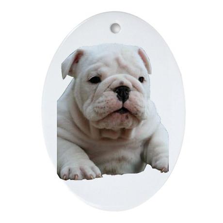 British Bulldog Oval Ornament