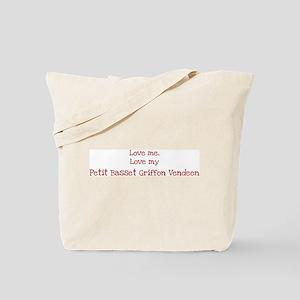 Love my Petit Basset Griffon Tote Bag