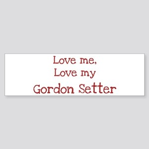 Love my Gordon Setter Bumper Sticker