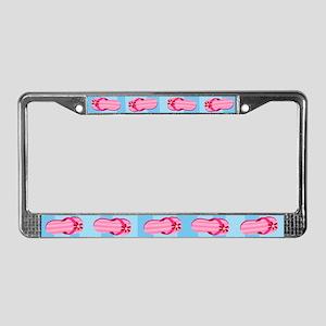 Pink Flip Flops License Plate Frame