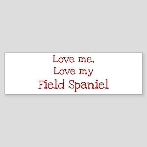 Love my Field Spaniel Bumper Sticker