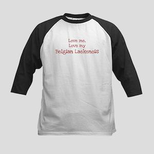 Love my Belgian Laekenois Kids Baseball Jersey