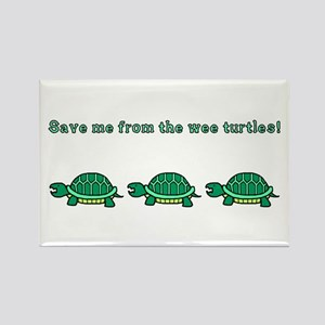 Wee Turtles Rectangle Magnet