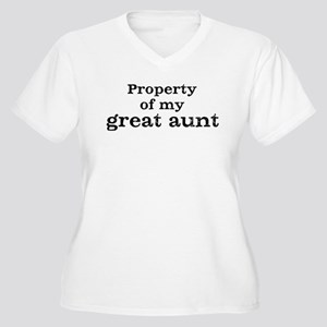 Property of great aunt Women's Plus Size V-Neck T-