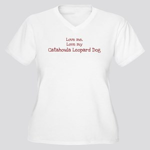 Love my Catahoula Leopard Dog Women's Plus Size V-