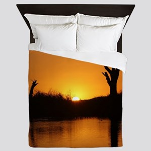 Sunrise over the river Queen Duvet