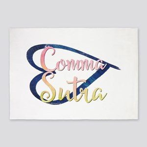 Comma Sutra 5'x7'Area Rug