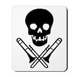skull & trombones Mousepad