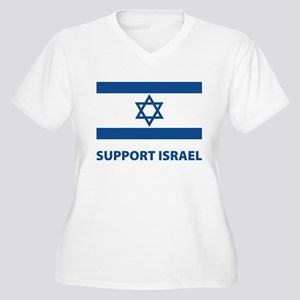Support Israel Women's Plus Size V-Neck T-Shirt