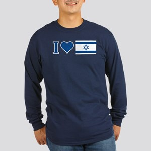 I Heart Israel Long Sleeve Dark T-Shirt