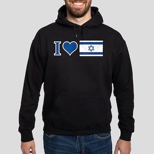 I Heart Israel Hoodie (dark)