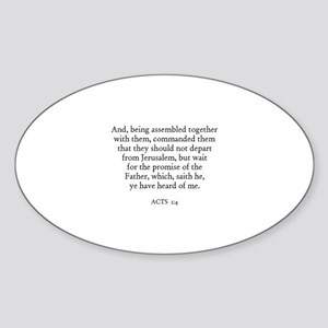 ACTS 1:4 Oval Sticker