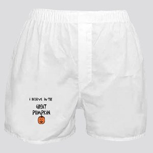 i believe in the great pumpki Boxer Shorts