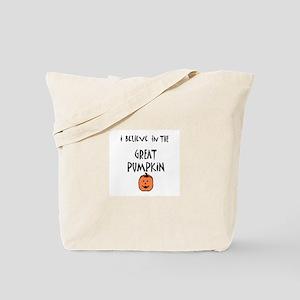 i believe in the great pumpki Tote Bag