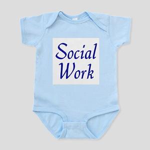 Social Work (blue) Infant Bodysuit