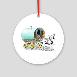 Gypsy Wagon Ornament (Round)