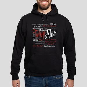 Twilight Addict Quotes Hoodie (dark)