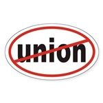 No union Euro Oval Sticker