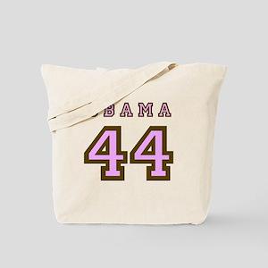 Obama 44 (brown/pink) Tote Bag