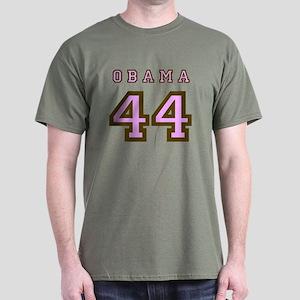 Obama 44 (brown/pink) Dark T-Shirt