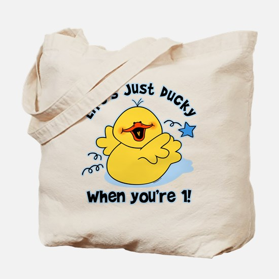 Life's Ducky 1st Birthday Tote Bag