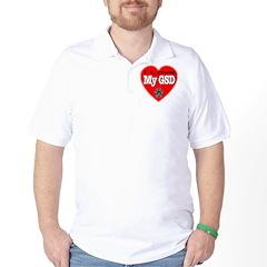 I Love My GSD Golf Shirt