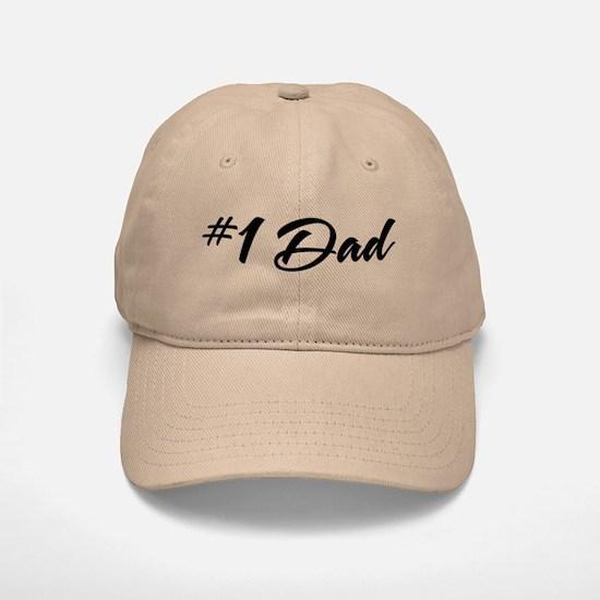 Number One Dad Baseball Baseball Cap