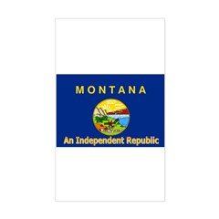 Montana-4 Rectangle Decal