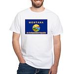 Montana-4 White T-Shirt