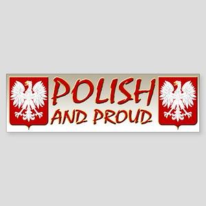 Polish and Proud Bumper Sticker