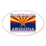 Arizona-4 Oval Sticker (50 pk)