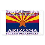 Arizona-4 Rectangle Sticker 50 pk)