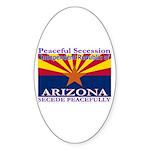 Arizona-4 Oval Sticker