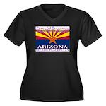 Arizona-4 Women's Plus Size V-Neck Dark T-Shirt