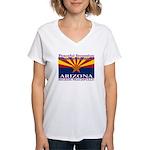 Arizona-4 Women's V-Neck T-Shirt