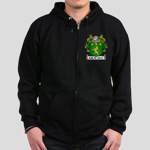 Moore Coat of Arms Zip Hoodie (dark)