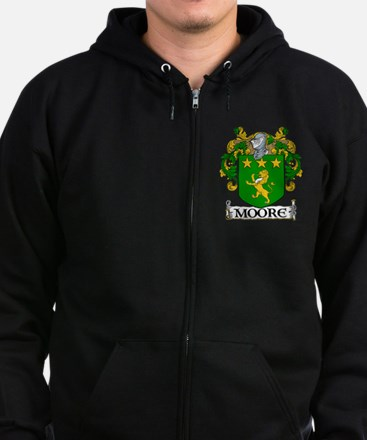 Moore Coat of Arms Zip Hoodie (dark)