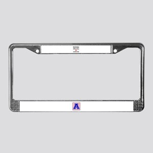 Nothing Impossible When You Lo License Plate Frame