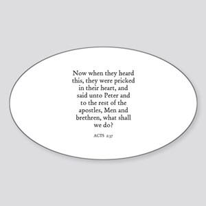 ACTS 2:37 Oval Sticker