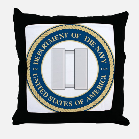 Navy Lieutenant Throw Pillow