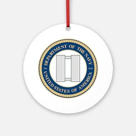 Navy Lieutenant Ornament (Round)
