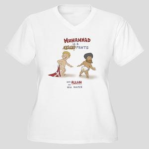 Poopy Muhammad Women's Plus Size V-Neck T-Shirt