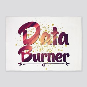 Data Burner 5'x7'Area Rug