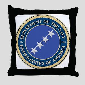 Navy Admiral Throw Pillow