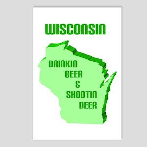 Beer & Deer Postcards (Package of 8)