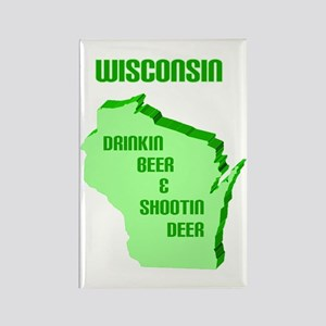 Beer & Deer Rectangle Magnet