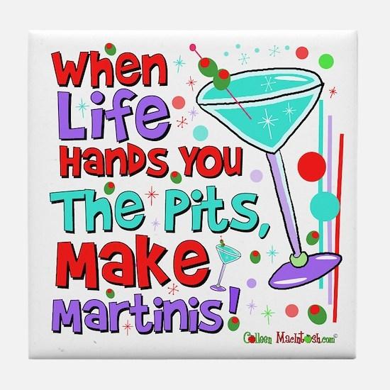 Make Martinis Tile Coaster