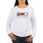 Peace, Love & Breastfeeding Women's Long Sleeve T-