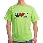 Peace, Love & Breastfeeding Green T-Shirt
