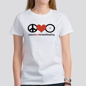 Peace, Love & Breastfeeding Women's T-Shirt